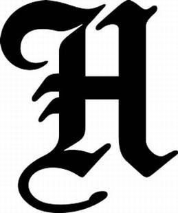 Font boe h bird old english upper case alphabets fonts font boe h altavistaventures Image collections