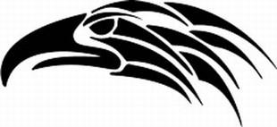 Tribal Bird Decal 1