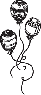 balloons decal